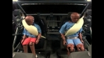 Inflatable rear safety belts